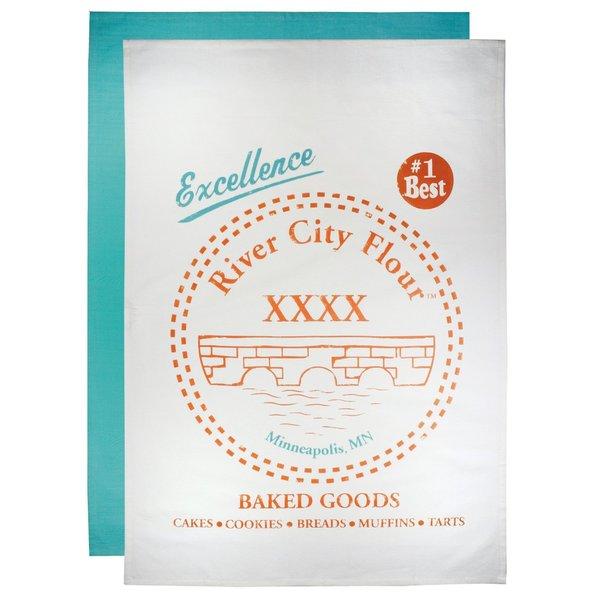 Cotton Flour River City Sack Towel (Set of 2)