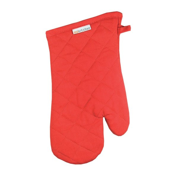 Red Cotton Oven Mitt