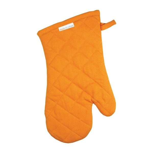 Orange Cotton Oven Mitt