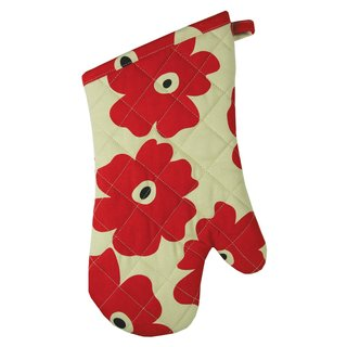 Red Poppy Cotton Oven Mitt