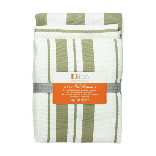 Sand Cotton Striped Dishtowel (Set of 3)