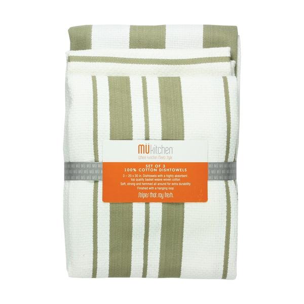 Sand Cotton Striped Dishtowel (Set of 3)
