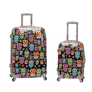 Rockland Owl 2-piece Lightweight Hardside Spinner Luggage Set