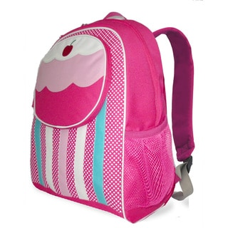 French West Indies Frenchies Pink Cupcake Backpack