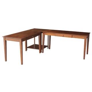 Basic 3-piece Large Espresso Desks/ Connecting Table Set