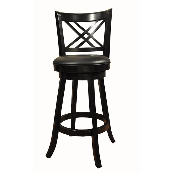 Whitaker Furniture Black Double X-back Stools (Set of 2)