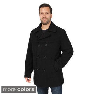 EXcelled Men's Big and Tall Double Breasted Peacoat