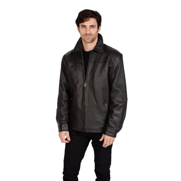 Excelled Men's New Zealand Leather Jacket 13696391
