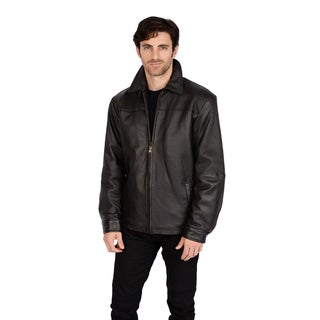 Excelled Men's New Zealand Leather Jacket