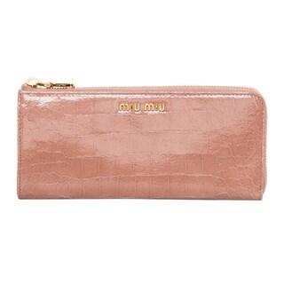Miu Miu Craquel� Croc-embossed Calf Leather Wallet