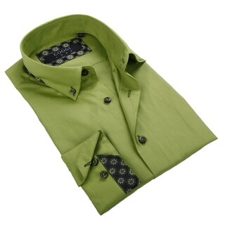 Coogi Luxe Men's Apple Green Button-down Shirt