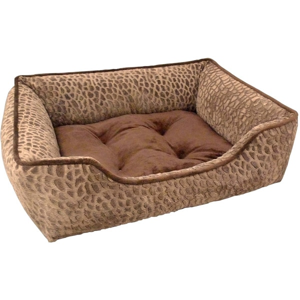 Zuma Tip-dyed Micro Mink Rectangle Cuddler Lounger Pet Bed