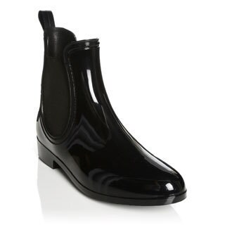 Henry Ferrera New York Women's Black Gore Moto Ankle Rain Booties