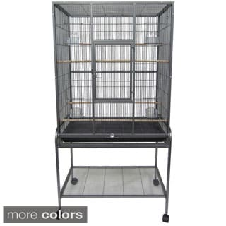 Metal Wire Aviary Cage with Stand