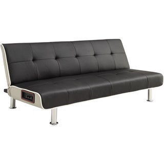 DHP 'Rocker' Leatherette Bluetooth Stereo Futon