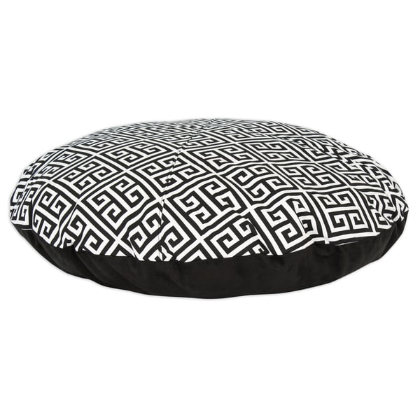 Towers Black/ White Geo Print Round 36-inch Pet Bed