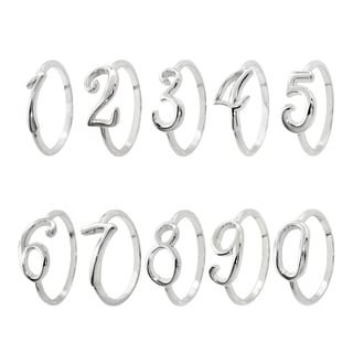 Eternally Haute Sterling Silver Stackable Number Rings