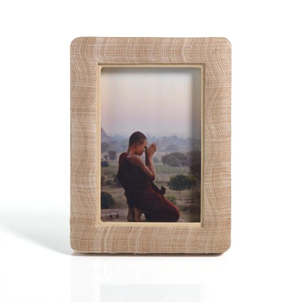 Padded Silken Abaca 6 x 8-inch Photo Frame