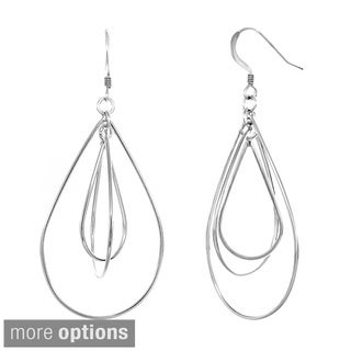 Sterling Essentials Sterling Silver Double Dangling Pear Earrings