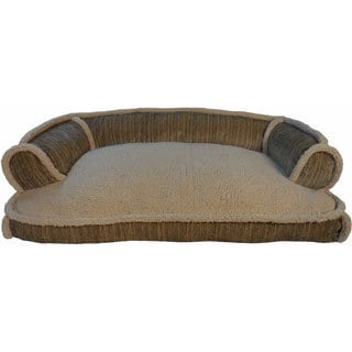 Amity Stripe Chenille Sofa-style Pet Bed