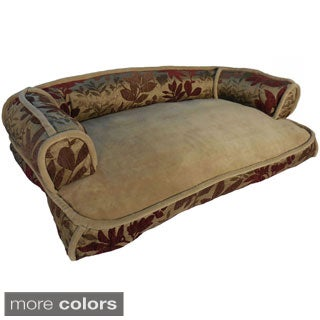 Bristol Chenille Leaf Jacquard Couch Style Pet Bed