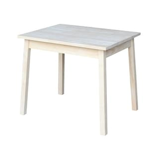 Unfinished Wood Children's Table