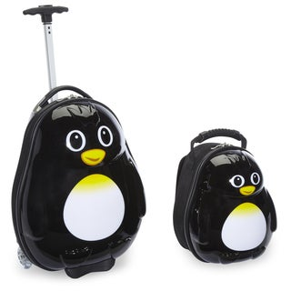 Travel Buddies Percy Penguin 2-piece Kids' Carry-on Travel Luggage Set