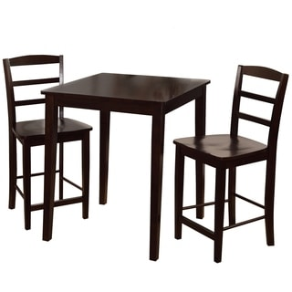 30-inch Counter Height Rich Mocha 3-piece Dining Set