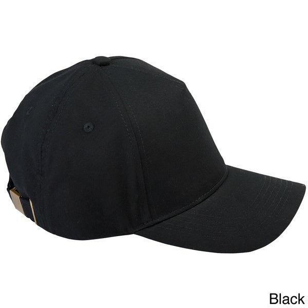 Brushed Twill Brass Buckle 5-panel Baseball Cap