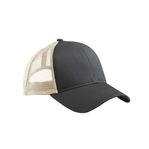 Eco Organic Cotton Recycled Polyester 6-panel Mesh Trucker Cap