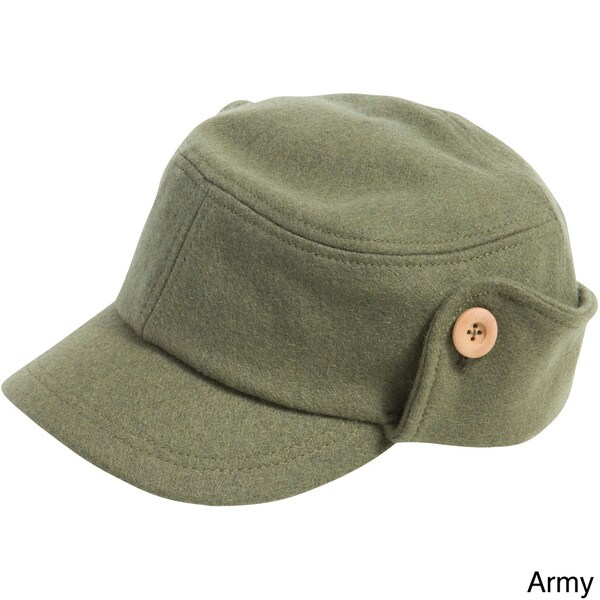 Alternative Unisex Wool Button-up Fidel Cap