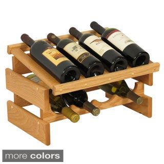 8-bottle Wood Dakota Stackable Wine Rack with Display Top