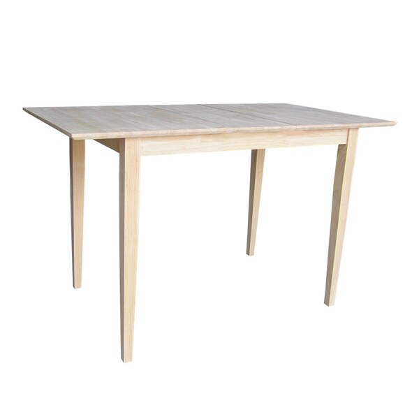 Inch Wide Unfinished Shaker Style Parawood Counter Height Dining Table