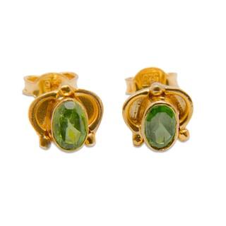 Sitara Goldplated Peridot Post Earrings (India)
