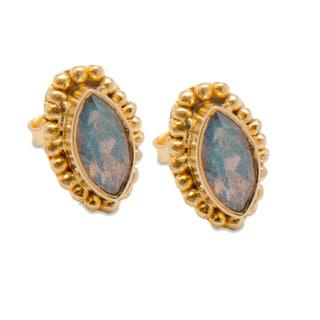 Sitara Goldplated Labradorite Post Earrings (India)