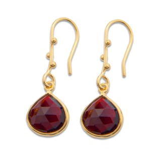 Sitara Goldplated Garnet Dangle Earrings (India)