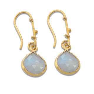 Sitara Goldplated Moonstone Dangle Earrings (India)