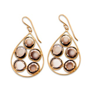 Sitara Goldplated Smoky Quartz Dangle Earrings (India)
