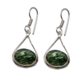 Sitara Silverplated Seraphinite Dangling Earrings (India)