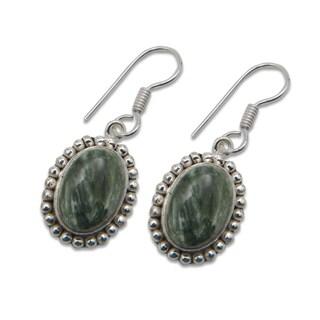 Sitara Silverplated Seraphinite Dangling Earrings (India)