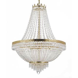 Gallery Empire Crystal 14-light Gold Chandelier