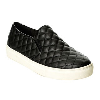 Henry Ferrera Women's Black Quilted Slip-on Casual Shoes