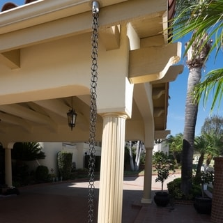 8.5-foot Aluminum Black Powder-coated Ring Rain Chain