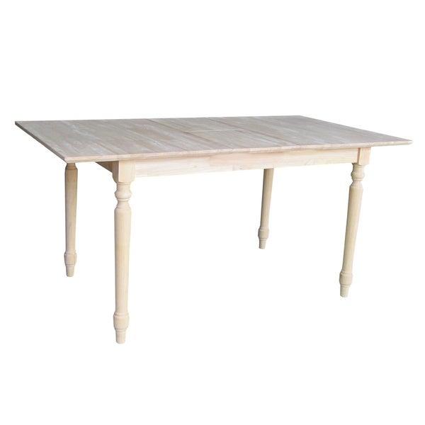 32 inch wide unfinished turned style parawood dining table for 32 wide dining table