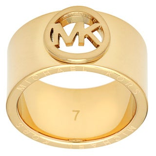 Michael Kors Goldtone Stainless Steel Fashion Ring