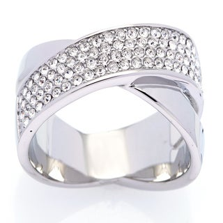 Michael Kors Stainless Steel Crystal Ring