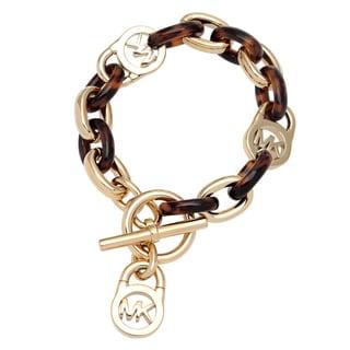 Michael Kors Goldtone Acetate Link Bracelet