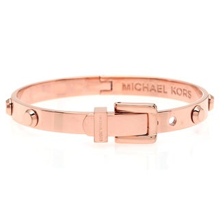 Michael Kors Rose Goldtone Stainless Steel Buckle Bracelet
