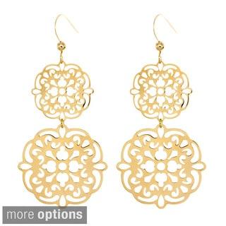 Sterling Essentials 14k Goldplated Silver Filigree Cutout Drop Earrings