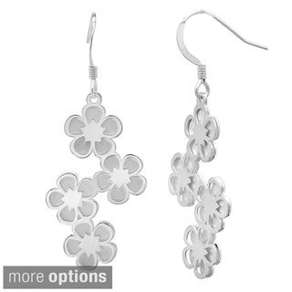 Sterling Essentials 14k Goldplated Silver Floral Dangle Earrings